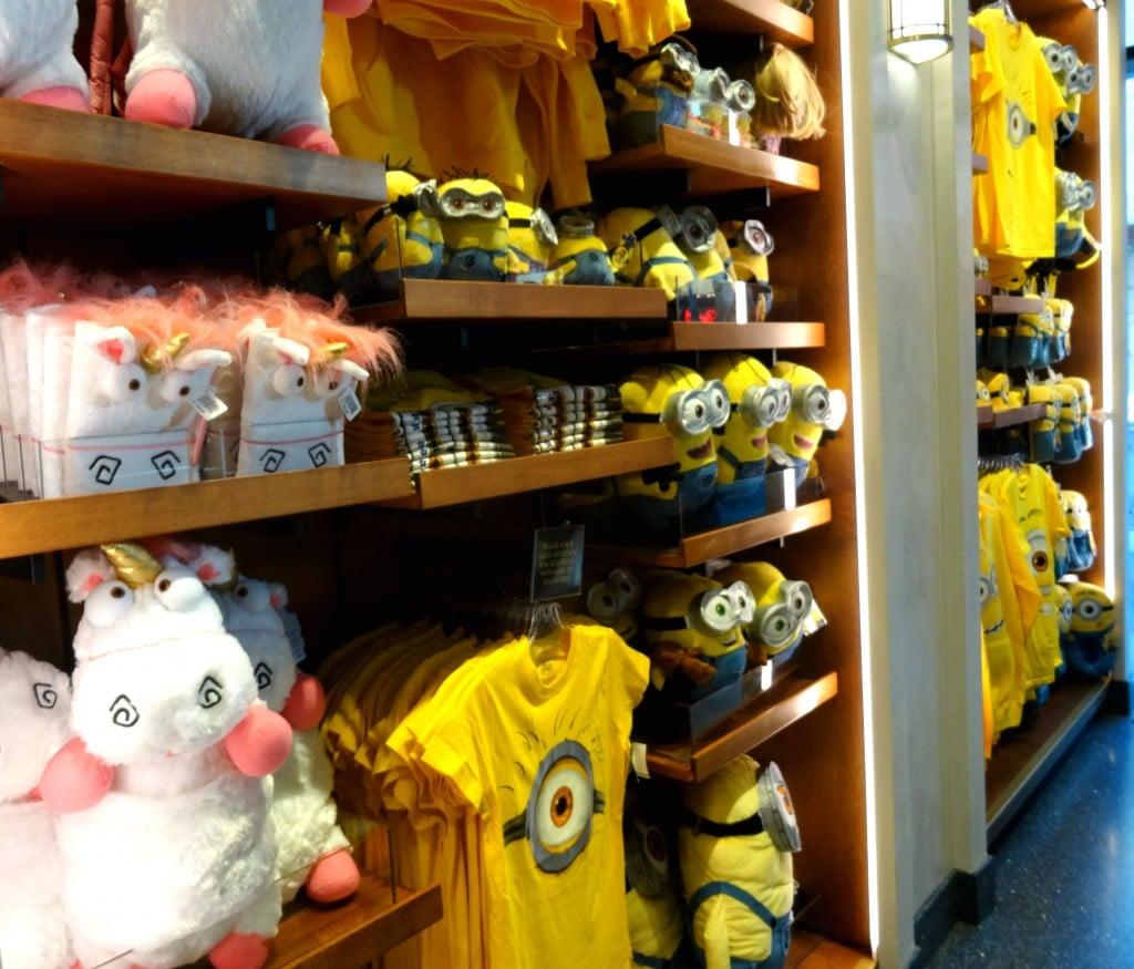 Seção dos Minions na Loja da Universal no Citywalk Hollywood.