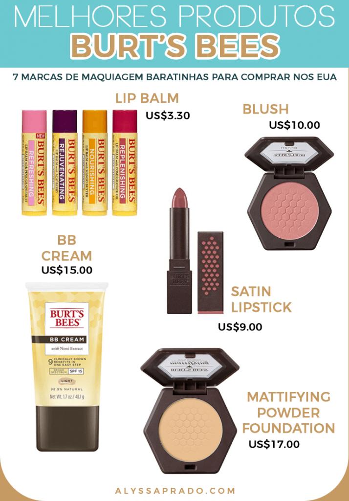 Os melhores produtos da Bert's Bees! Veja mais dicas de marcas de maquiagem baratinhas para comprar nos Estados Unidos nesse post!