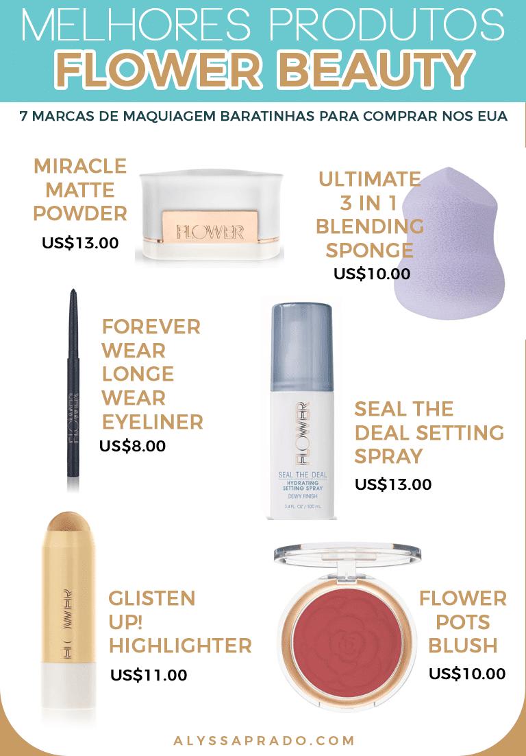 Os melhores produtos da Flower Beauty! Veja outras sugestões de marcas de  maquiagem baratinhas para 5b5e14821f