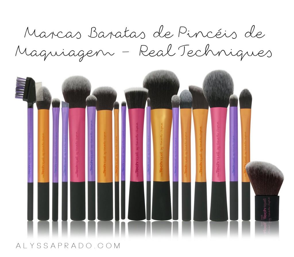 Marcas Baratas de Pincéis de Maquiagem - Real Techniques