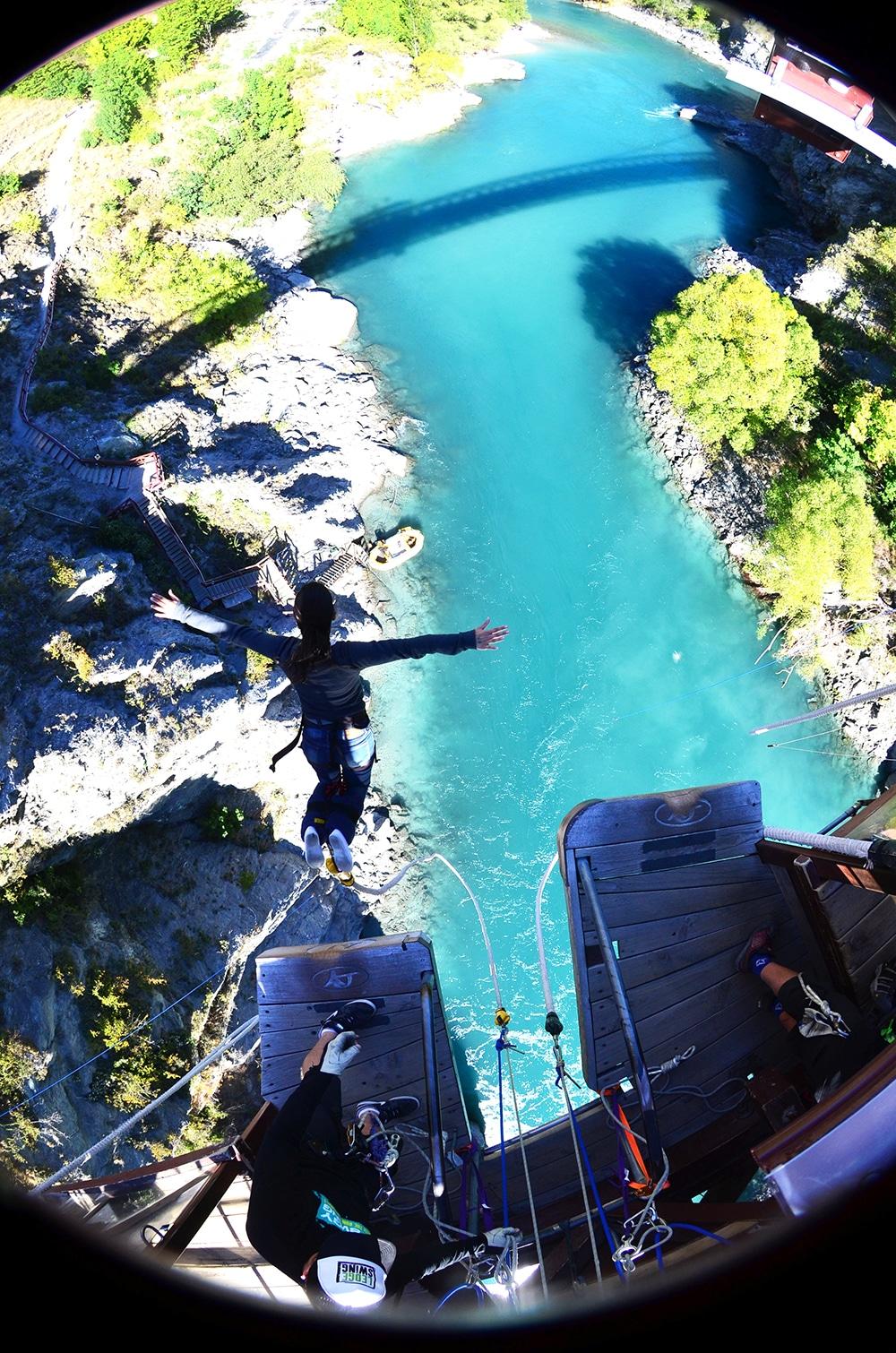 Bungy Jumping na Nova Zelândia, no Kawarau Bridge Bungy