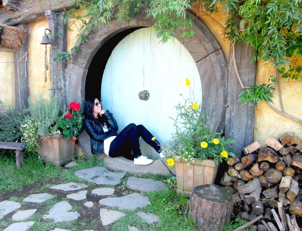 Brincando de hobbit em Hobbiton