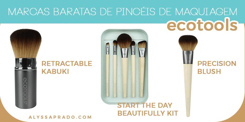 Conheça 7 marcas baratas de pincéis de maquiagem - Ecotools, Real Techniques, e.l.f. e mais!
