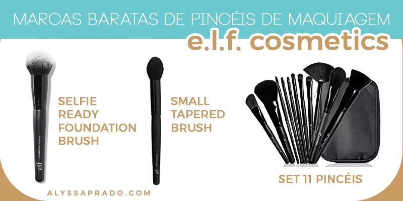 Conheça os pincéis da e.l.f. – marca baratinha e de qualidade! Veja mais marcas baratas de pincéis de maquiagem nesse post!