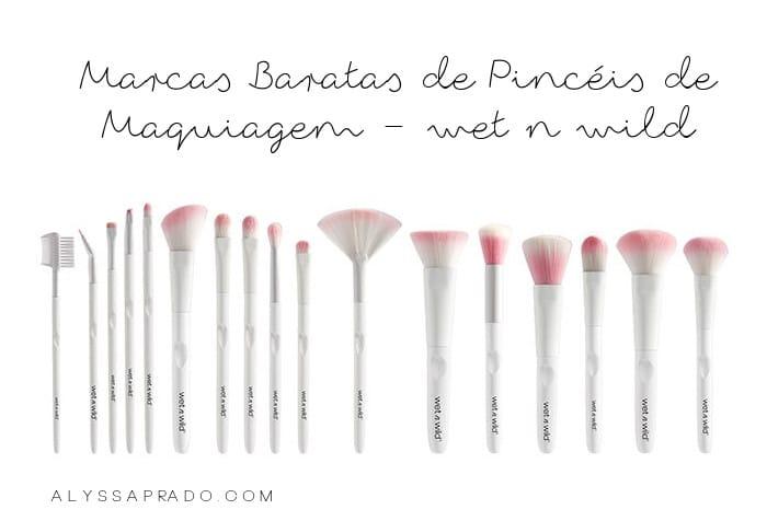Marcas Baratas de Pincéis de Maquiagem - wet n wild