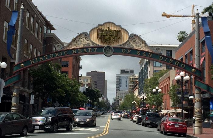 2 dias em San Diego - Diário de Viagem - Gaslamp Quarter