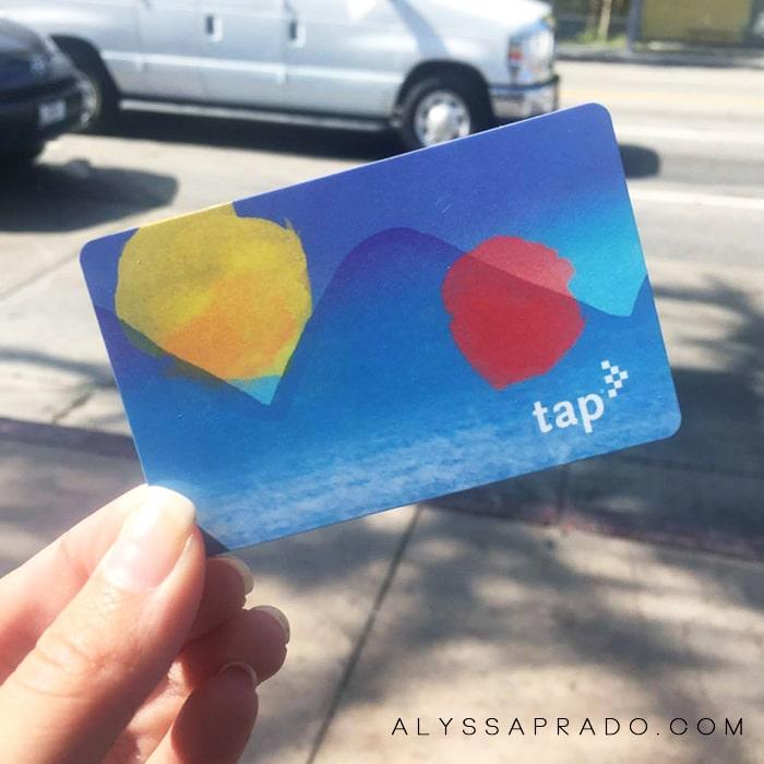 Los Angeles sem Carro - TAP Card cartão de transporte