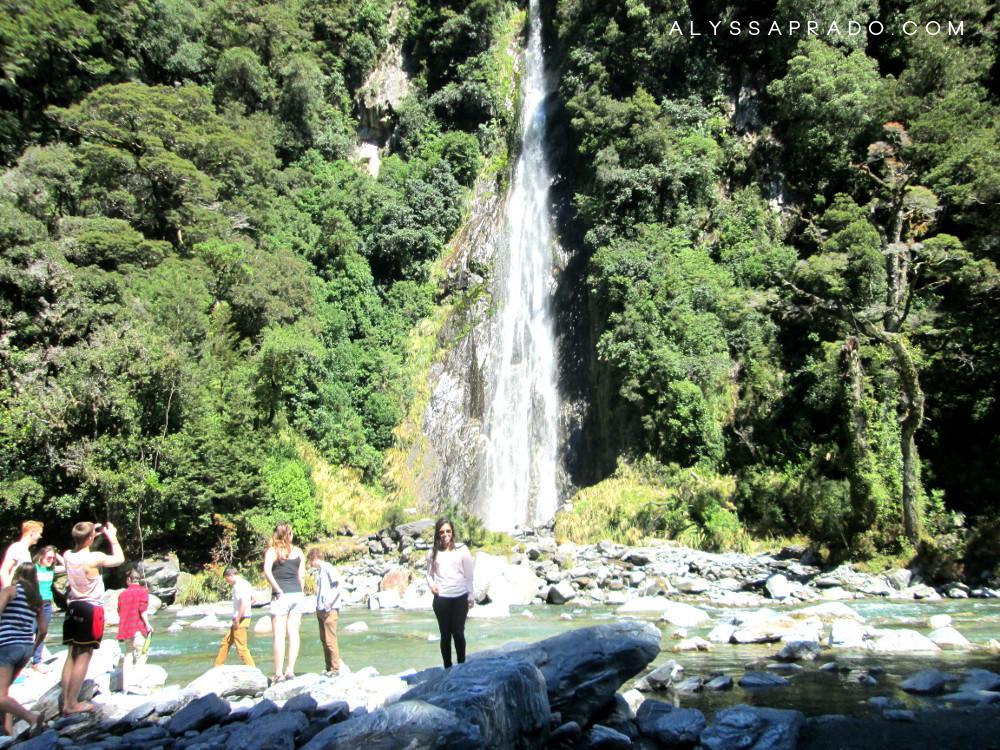 Experiência Topdeck na Nova Zelândia - Cachoeira