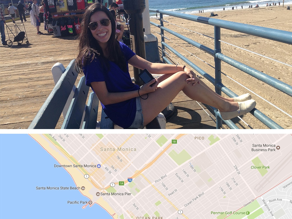 No píer de Santa Monica depois de me perder um pouco no ônibus hahaha