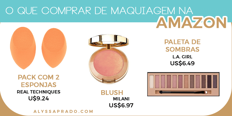 Além de livros e eletrônicos, a Amazon também é ótima para comprar cosméticos com ótimos preços! Clique no link e conheça outros sites para comprar maquiagem nos Estados Unidos!