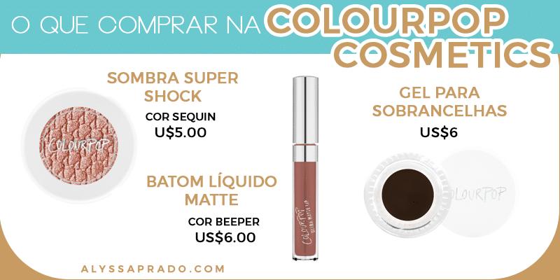 Batons líquidos que duram a noite inteira e sombras com alta pigmentação, esses são os principais produtos da Colourpop Cosmetics! Clique no link e descubra o que comprar em outros 8 sites de maquiagem dos Estados Unidos!