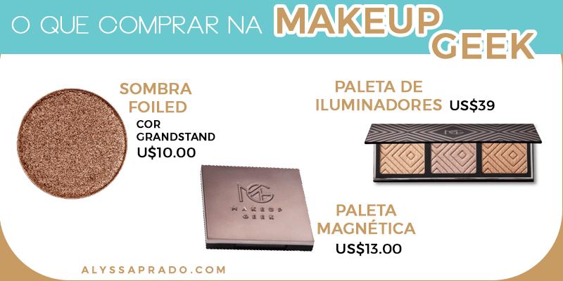 As sombras de alta pigmentação são a principal aposta da Makeup Geek! Conheça esse e outros 8 sites para comprar maquiagem nos Estados Unidos clicando no link!