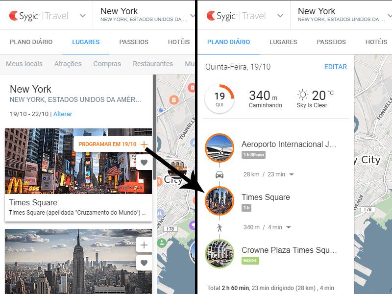 Aprenda a usar o Sygic Travel, site para montar roteiros de viagem, nesse post!