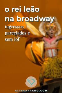 Leia mais sobre O Rei Leão na Broadway, um dos espetáculos mais populares em cartaz atualmente e compre seus ingressos de forma parcelada sem pagar iof!