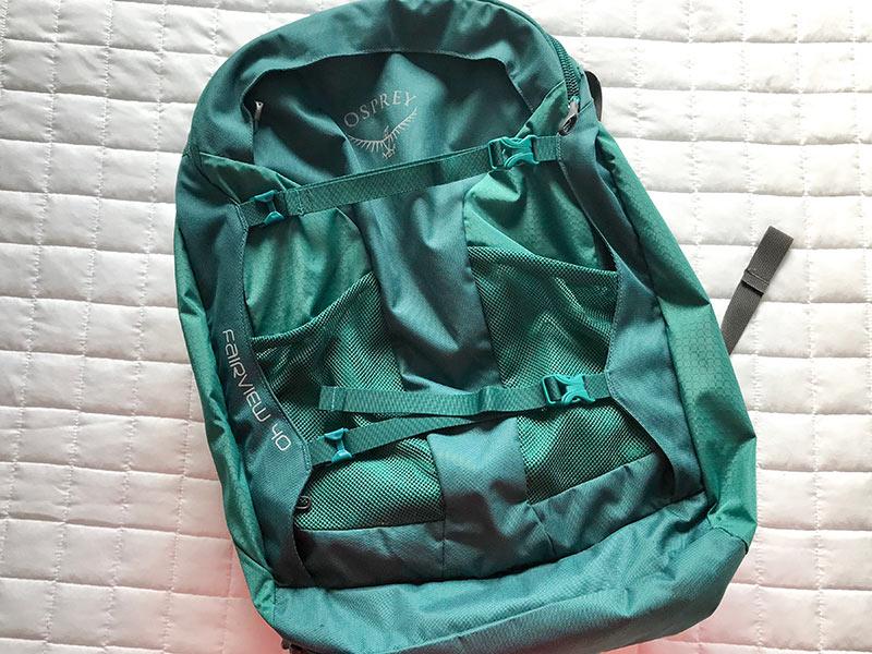 Leia a resenha completa do mochilão de viagem Osprey Fairvew