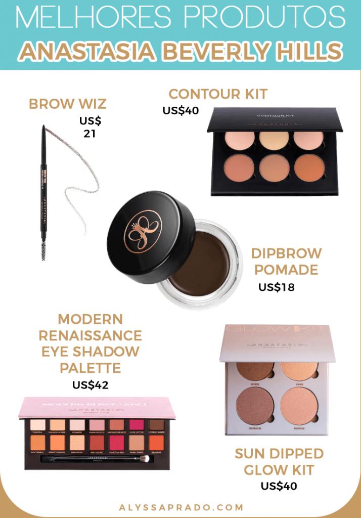 Descubra os melhores produtos da Anastasia Beverly Hills e de outras marcas de maquiagem dos Estados Unidos nesse post!