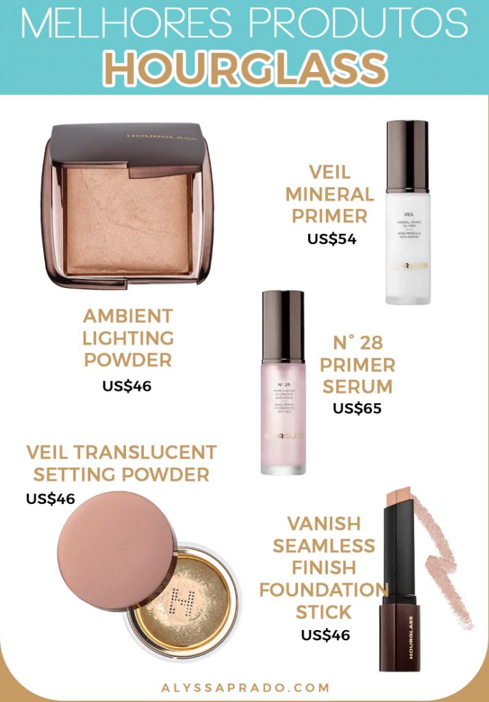 Descubra os melhores produtos da Hourglass e de outras marcas de maquiagem dos Estados Unidos nesse post!