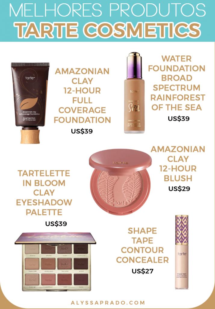 Descubra os melhores produtos da Tarte e de outras marcas de maquiagem dos Estados Unidos!