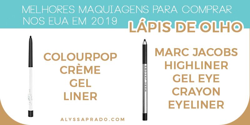 Os melhores lápis de olho para comprar na sua viagem para os EUA! Descubra as Melhores Maquiagens para comprar nos Estados Unidos em 2019 nesse post! Dicas de base, corretivos, paletas de sombras, pincéis e mais!