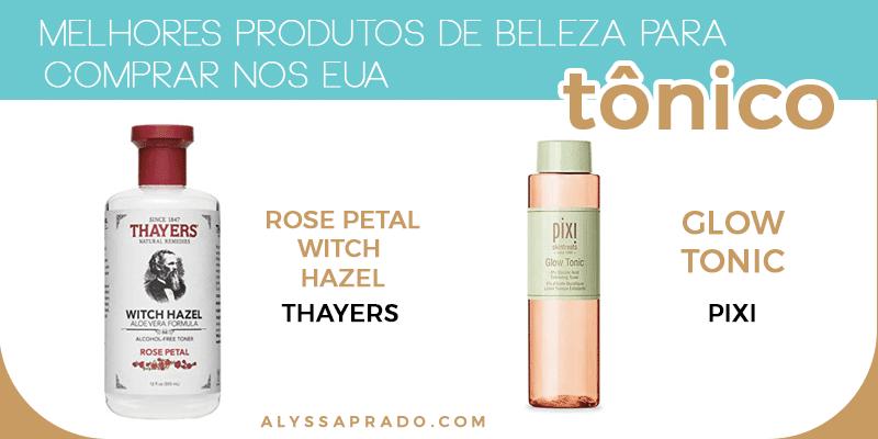 Descubra os melhores produtos de beleza para comprar nos Estados Unidos nesse post! Dicas de hidratantes, tônicos, sabonetes, esfoliantes e mais!