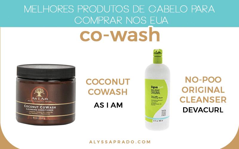 Faz no poo? Então confira os melhores produtos de co-wash para comprar na sua viagem aos Estados Unidos!