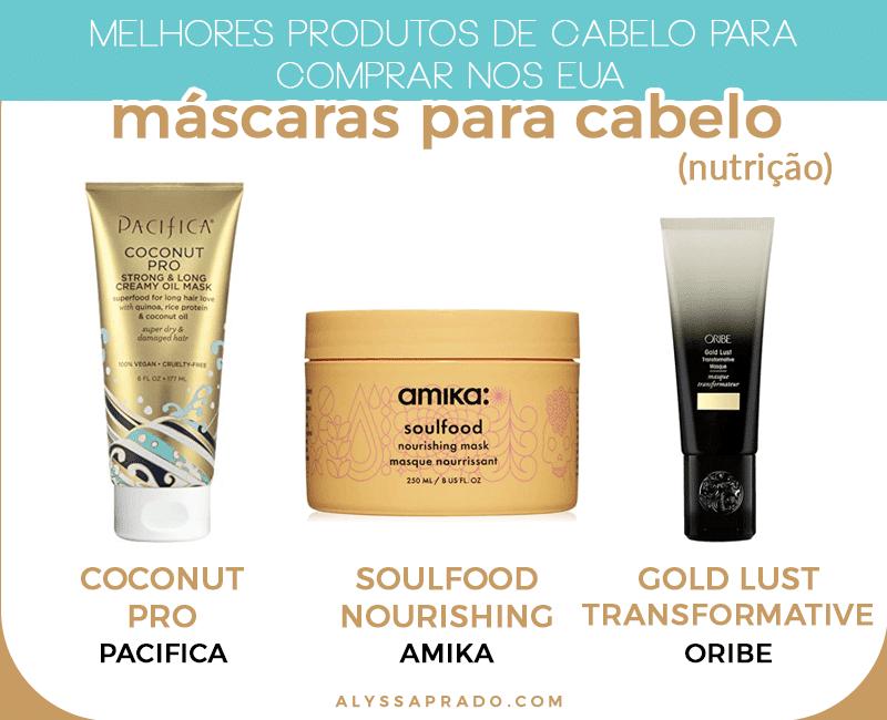 Procurando pelas melhores máscaras de cabelo para comprar nos Estados Unidos? Então leia esse e post e veja as melhores máscaras de nutrição, hidratação, reconstrução e outros produtos!