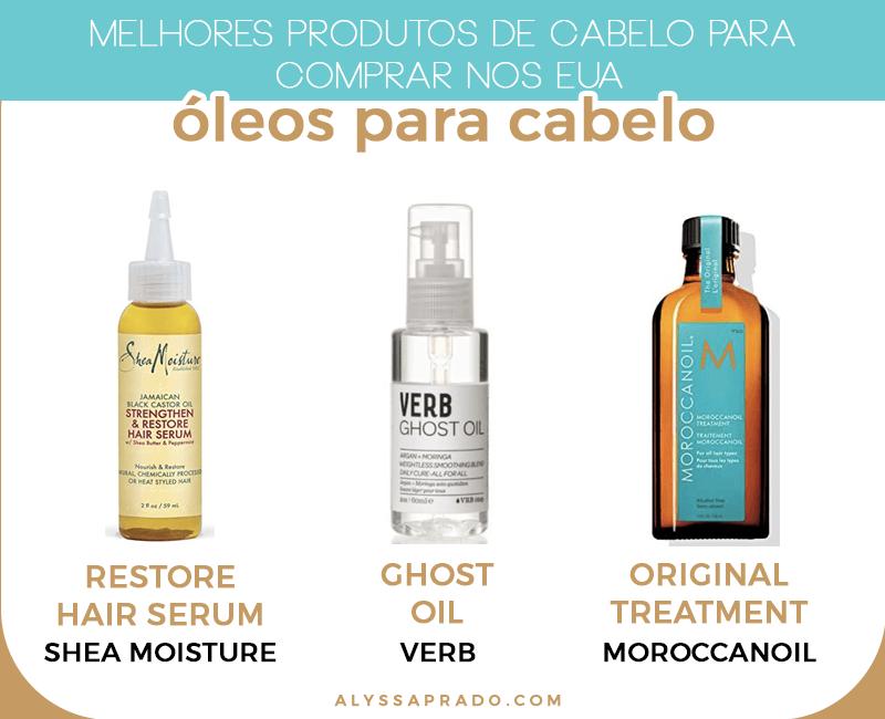 Os melhores óleos para cabelo para comprar nos Estados Unidos! Opções incríveis para hidratar e nutrir os fios!