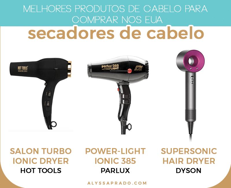 Os melhores secadores de cabelo para comprar nos Estados Unidos! Veja esses e outros produtos de cabelo para comprar nos EUA nesse post!