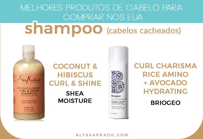Os melhores shampoos para cabelos cacheados para comprar nos Estados Unidos! Descubra os melhores produtos para cabelo para comprar nos EUA nesse post!