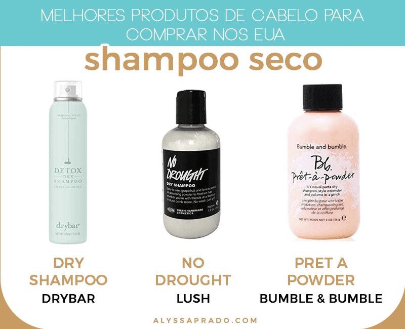 Querendo investir em um shampoo seco na sua próxima viagem? Então confira os melhores shampoos secos para comprar nos Estados Unidos!