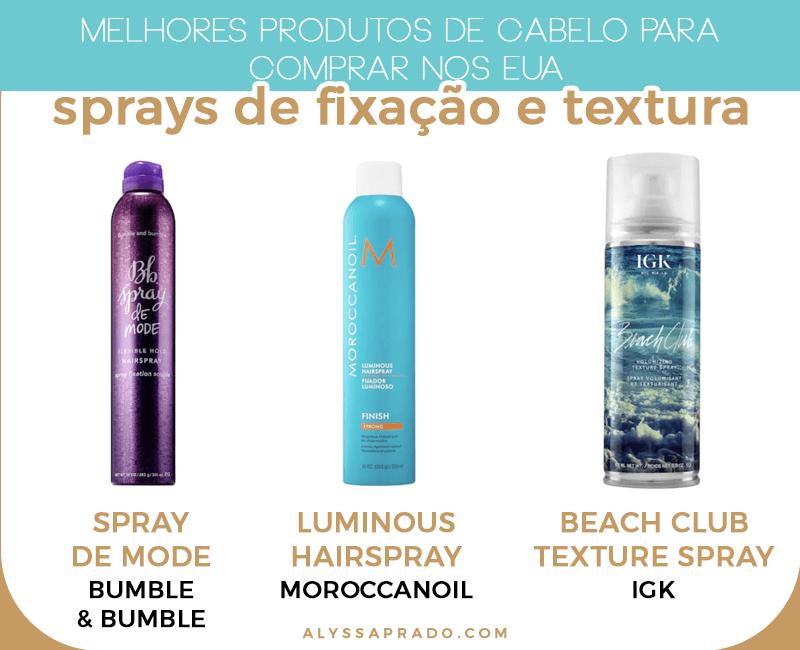 Os melhores sprays de cabelo para comprar na sua viagem aos Estados Unidos! Veja esses e outros dos melhores produtos de cabelo que não podem faltar na sua listinha de compras quando for viajar para o país nesse post!