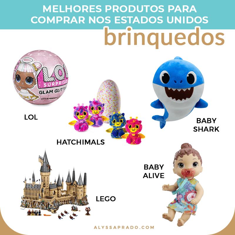 Dicas dos melhores brinquedos para comprar na sua viagem e arrasar com o presente das crianças! Veja nesse post uma lista completa com o que comprar nos Estados Unidos!