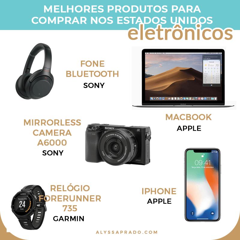 Descubra os melhores eletrônicos para comprar na sua viagem aos Estados Unidos e economize ao máximo! Veja também o que comprar nos EUA (uma lista com os melhores produtos) nesse post!