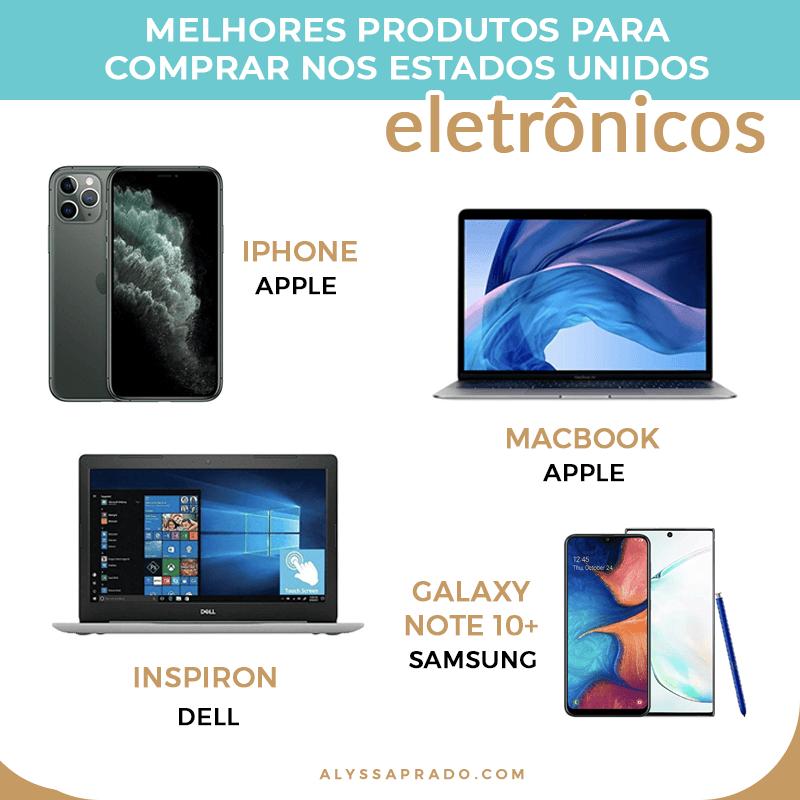Aqui estão alguns dos melhores notebooks e smartphones para comprar na sua viagem! Confira a lista completa com os melhores eletrônicos para comprar nos Estados Unidos nesse post!